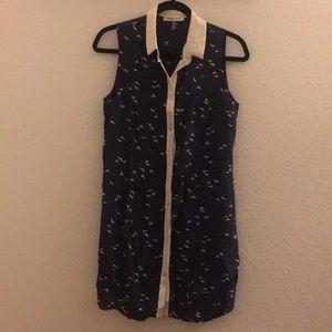 Amour Vert sleeveless Shirt Dress NWOT 100% silk
